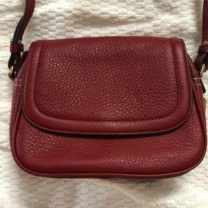J Cew Signet Flap Bag in red